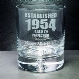 Aged To Perfection Whisky Glass, PERSONALISED, ref ATPCW